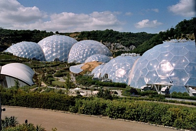 Biomes at the Eden Project, St Austell, Cornwall