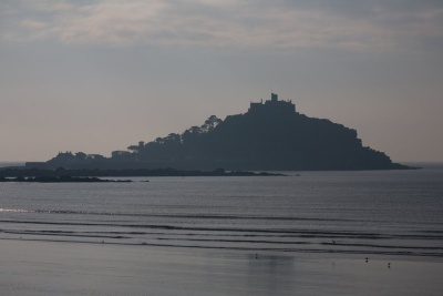 St Michaels Mount in the morning mist