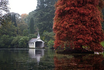 The boathouse at Trevarno Gardens